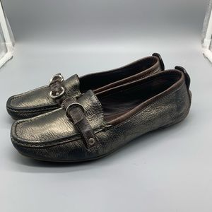 Coach Jillian metallic loafers